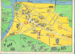 Serbia. Belgrad.  The City Centre Map. (RR) - Maps