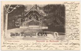 68 - SOUVENIR De MULHOUSE - Jardin Zoologique +++ J. Diedisheim, #104 +++ Vers Bischwiller, 1900 +++ RARE - Mulhouse