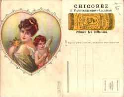 Illustrateur E Colombo - Femme Et Ange Cupidon, Publicité Chicorée J Vandekerckhove-laleman - Colombo, E.