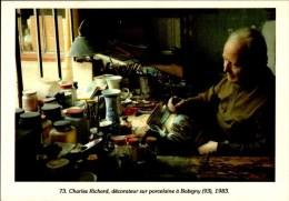 93-BOBIGNY..CHARLES RICHARD,DECORATEUR SUR PORCELAINE..1983... CPM ANIMEE - Bobigny