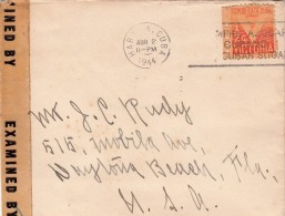 1944 LETTRE CUBA POUR USA  AVEC CENSURE. COVER CUBA CENSOR/ 2309 - Briefe U. Dokumente