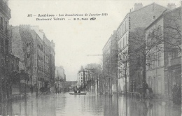 Asnières - Les Inondations De Janvier 1910 - Boulevard Voltaire - Carte B.F. N°182 Non Circulée - Inondations