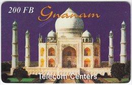 BELGIUM A-227 Prepaid Gnanam - Landmark, Taj Mahal - used