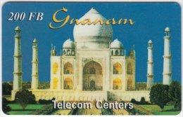 BELGIUM A-228 Prepaid Gnanam - Landmark, Taj Mahal - used