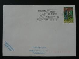 30 Gard Aimargues Maintien Des Traditions 1991 - Flamme Sur Lettre Postmark On Cover - Marcophilie (Lettres)