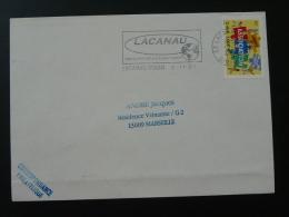 33 Gironde Lacanau Ocean - Flamme Sur Lettre Postmark On Cover - Marcophilie (Lettres)
