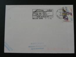 37 Indre Et Loire Ballan Mire 1992 - Flamme Sur Lettre Postmark On Cover - Marcophilie (Lettres)