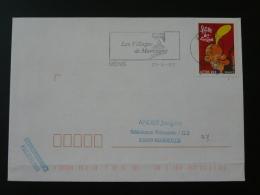 38 Isere Mens - Flamme Sur Lettre Postmark On Cover - Marcophilie (Lettres)