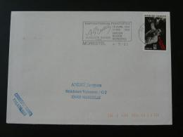 38 Isere Morestel Expo Auguste Ravier 1992 - Flamme Sur Lettre Postmark On Cover - Mechanical Postmarks (Advertisement)
