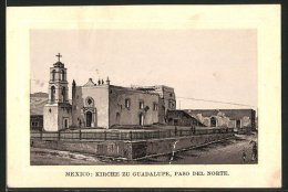 Sammelbild Schicht's Patent-Seife, Mexiko, L'Église Zu Guadalupe, Paso Del Norte - Old Paper