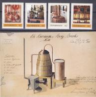 1341a: Austria, Wein- Bier- Schnapsgewinnung, Destillation- 4 Postfrische Marken Limited Edition - Wines & Alcohols