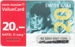 SWITZERLAND A-820 Prepaid Swisscom - used