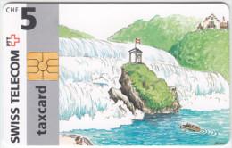 SWITZERLAND A-844 Chip Swisscom - Cartoon, Communication, Phone booth - used