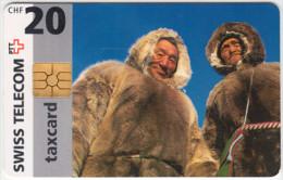 SWITZERLAND A-850 Chip Swisscom - Traditional people - used