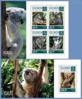 slm14716ab Solomon Is. 2014 Koalas 2 s/s