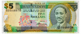 BARBADOS 5 DOLLARS 2012 Pick 67c Unc - Barbados