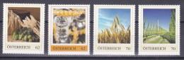 1341d: Austria: Getreide Gerste, Hopfen, Weizen, Malz 4 ** Motivmarken Limited Edition - Agriculture