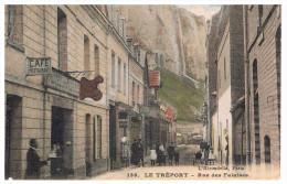 Rue Des Falaises Carte  En Trés Bon état Colorisée - Le Treport