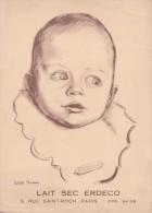 Carte 1900 Publicité Lait Sec Erdeco Signée Colette Rodde : Bébé - Publicité