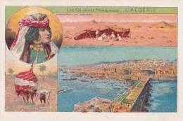 Chromo 1900 LES Colonies Françaises : L'Algérie : Le Port D'alger (un Palanquin) - Chromos