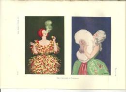 """Gravures AFFICHE De CAPPIELLO Pour CACHOU LAJAUNIE Et POUDRE DE LUZY  Extraite  De""""LES AFFAIRES Et L'AFFICHE""""1922 - Advertising"""