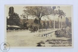 Old Real Photo Postcard Venezuela - Puente Ayacucho Caracas - Horse Carriage - Venezuela