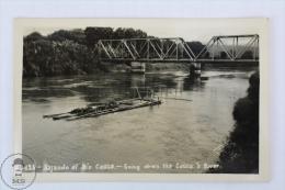 Old Real Photo Postcard Colombia - Bajando El Rio Cauca - Down The Cauca´s River - Colombia
