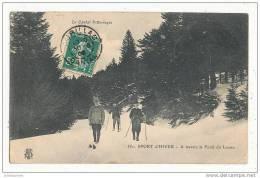 SPORT D HIVER  A TRAVERS LA FORET  LIORAN - Sports D'hiver