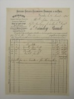 Facture Invoice Gosselies Dandoy Baude Magasins Toiles Coutils Calicots Tissus Laine Coton 1903 - Textile & Vestimentaire