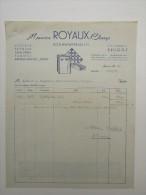Facture Invoice Brugge Bruges Maurice Royaux Claeys Bouwmaterialen 1957 - Petits Métiers