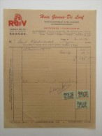Facture Invoice Brugge Bruges Gevers De Loof Lange Rei Machienen Kogelladers 1956 - Petits Métiers