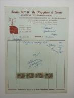 Facture Invoice Brugge Bruges Firma De Reyghere Ijzerwaren Outillage Markt Brugge 1956 - Petits Métiers