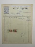 Facture Invoice Brugge Bruges Boek En Steen Drukkerij Imprimerie Vanhulle Langestraat Papuros 1954 - Imprenta & Papelería