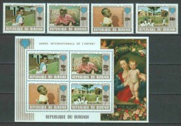 Burundi 1979 Mi 1497-1500 + Block 109A MNH CHILDREN - Burundi