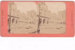 Commune De Paris 1871 Semaine Sanglante Siege De Parisruines Du Ministere Des Finances - Fotos Estereoscópicas