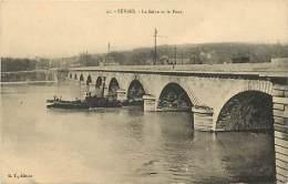 - Hauts De Seine -ref 641 - Sevres - La Seine Et Le Pont - Bateau - Theme Bateaux - Carte Bon Etat - - Sevres