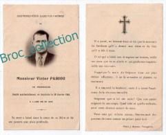 Soturac ? Peyregros, Mémento De Victor Pabiou, 30/01/1944, Accident De Bicyclette, Souvenir Mortuaire - Images Religieuses