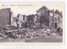 POPERINGE : Uitgebrande huizen Boeschepestraat