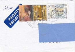 Z] Enveloppe Cover Autriche Austria Chauve-souris Bat église Church Noel Christmas - Fledermäuse