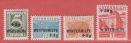 1933 * (avec Charn., MH, Falz)   Yv  437/40       Mi  563/6           ANK 563/6   (440-566 ** ?) - Ungebraucht