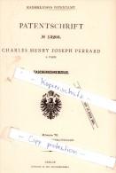 Original Patent - Charles Henry Joseph Perrard In Paris , 1880 , Taschenschreibzeug !!! - Schreibgerät