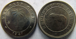 "Liberia 1/2 Cent 1941 ""Elephant"" UNC KM# 10a - Liberia"