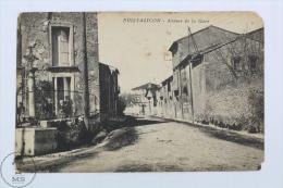 Old France Postcard - Puissalicon - Avenue De La Gare - Road Of The Train Station - Francia
