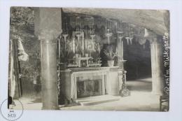 Old  Real Photo Postcard From Palestine  - Bethlehem Milk Grotto - Palestina