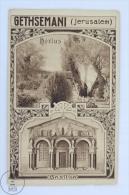 Old  Postcard From Jerusalem - Gethsemane - Hortus - Basilica - Palestina