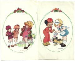Theme Enfants Publicité Verger Paris Calendrier Cirage Mode Illustrateur Vanasek - Grupo De Niños Y Familias