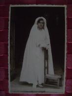 CARTE PHOTO DE COMMUNIANTE  - DU 29 JUIN 1941 EN L'EGLISE DE POMMAIRE (SEINE ET MARNE) - Persone Anonimi