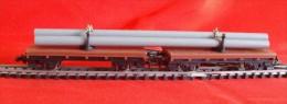 Trains électriques, Echelle N - Double Wagons Porte-tuyaux - Wagon De Marchandises, Pipelines - Wagons Marchandises