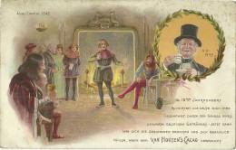 Theme Publicité Chocolat Van Houten Cacao Anno Domini 1542 Litho Historique - Illustrateurs & Photographes