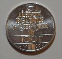 100 Francs Droits De L'homme Argent - France